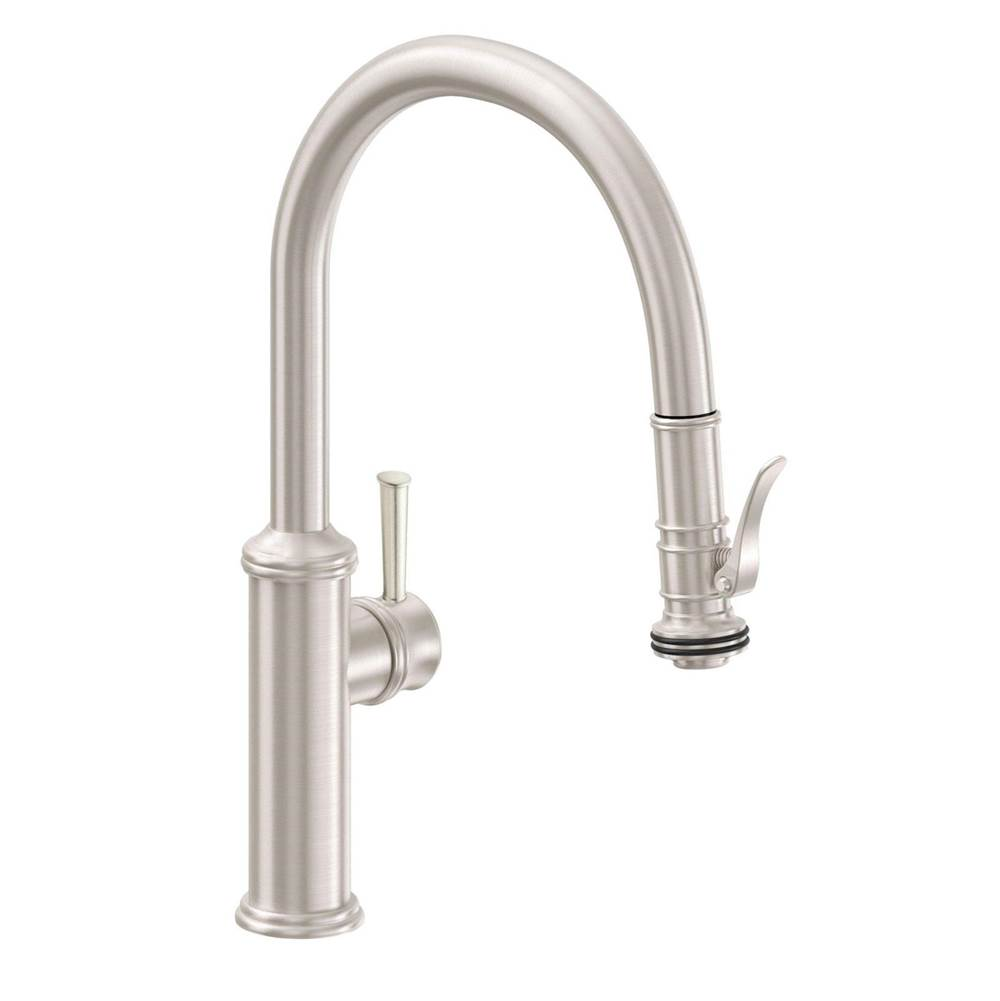 California Faucets Pull Down Faucet Kitchen Faucets item K10-102SQ-55-BBU
