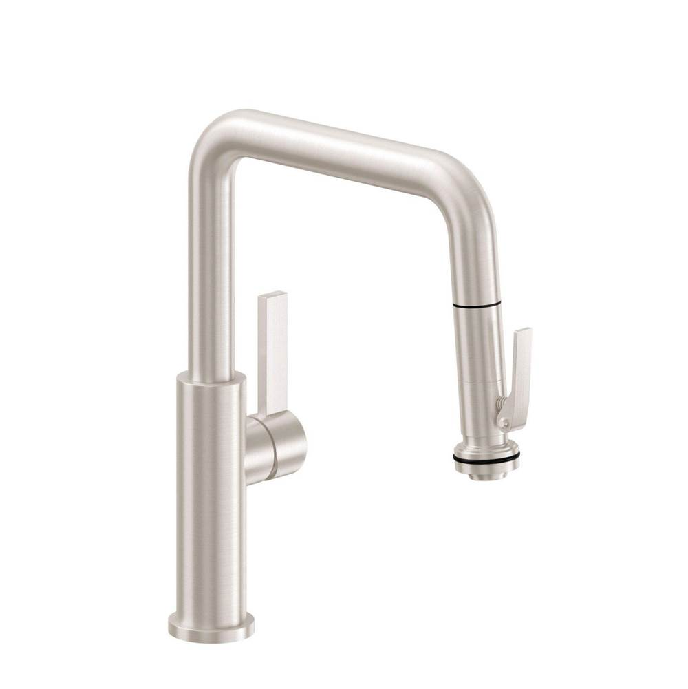 California Faucets Pull Down Faucet Kitchen Faucets item K51-103-ST-BLKN