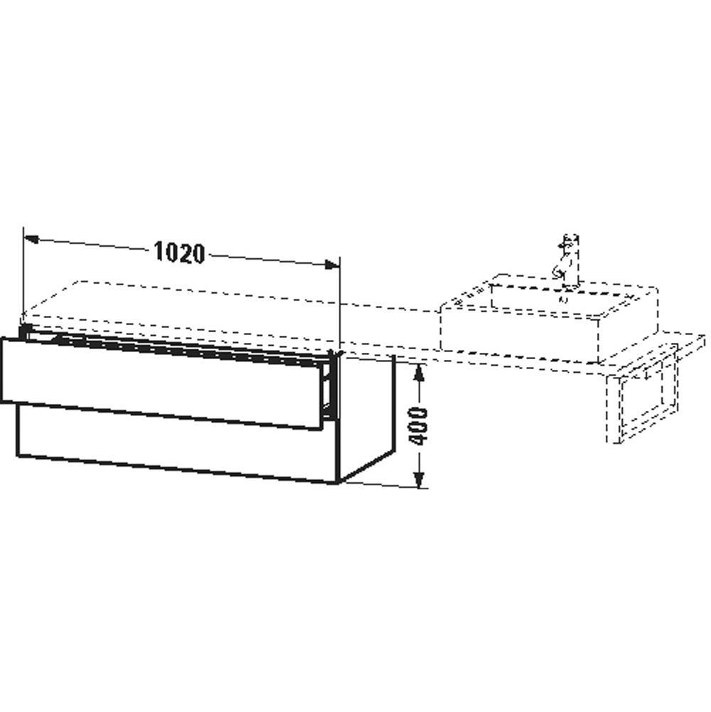 Duravit Bathroom Furniture L Cube | Decorative Plumbing Distributors ...
