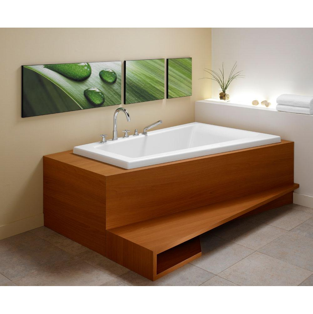 BORA bathtub 42x66 with Right drain, Biscuit