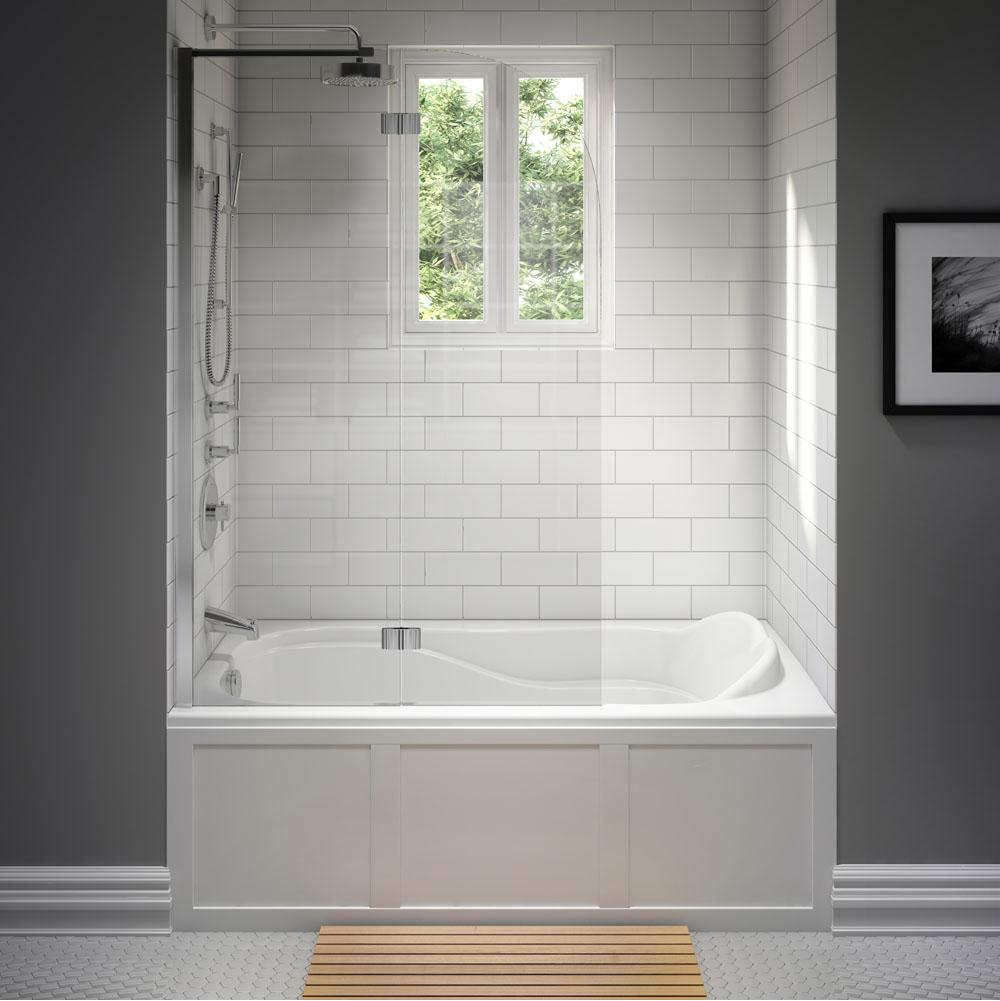 DAPHNE bathtub 32x60 with Tiling Flange, Left drain, Whirlpool, White