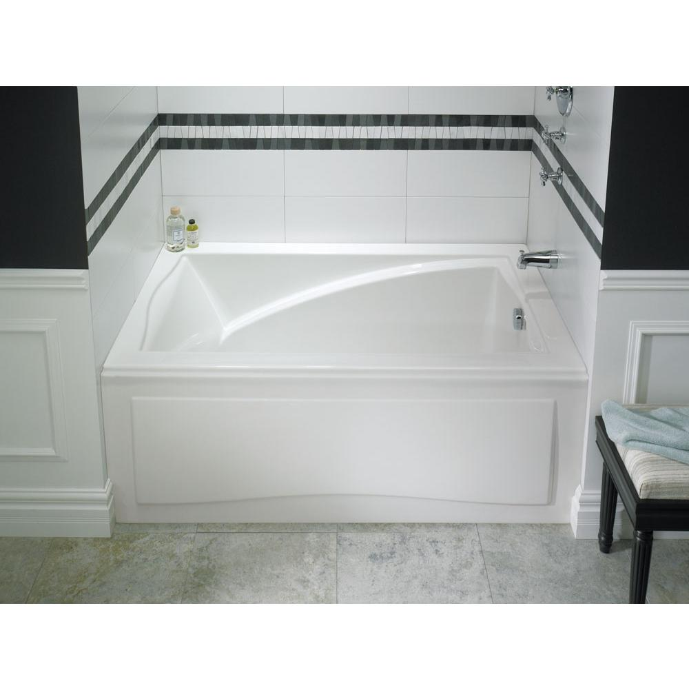 DELIGHT bathtub 32x60 with Tiling Flange and Skirt, Right drain, Tonic, Biscuit