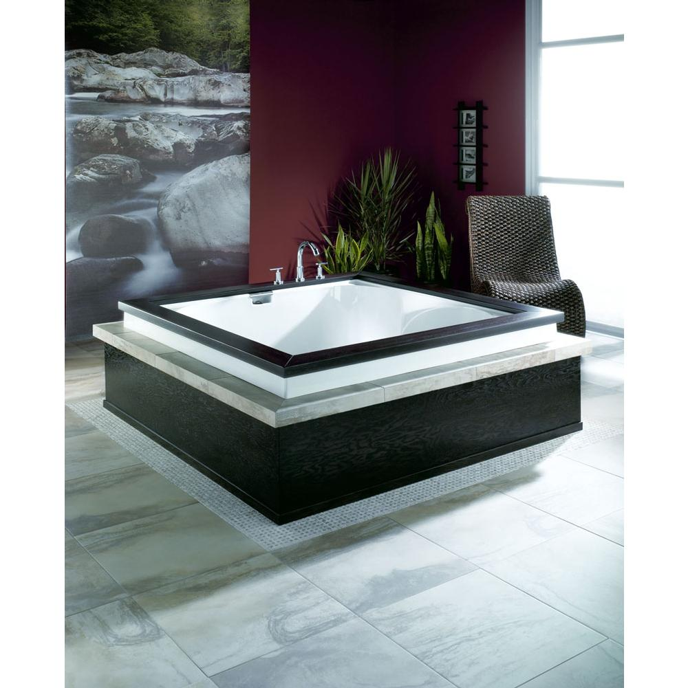 MACAO bathtub 60x60 with 2'' lip, Whirlpool/Mass-Air, Bone