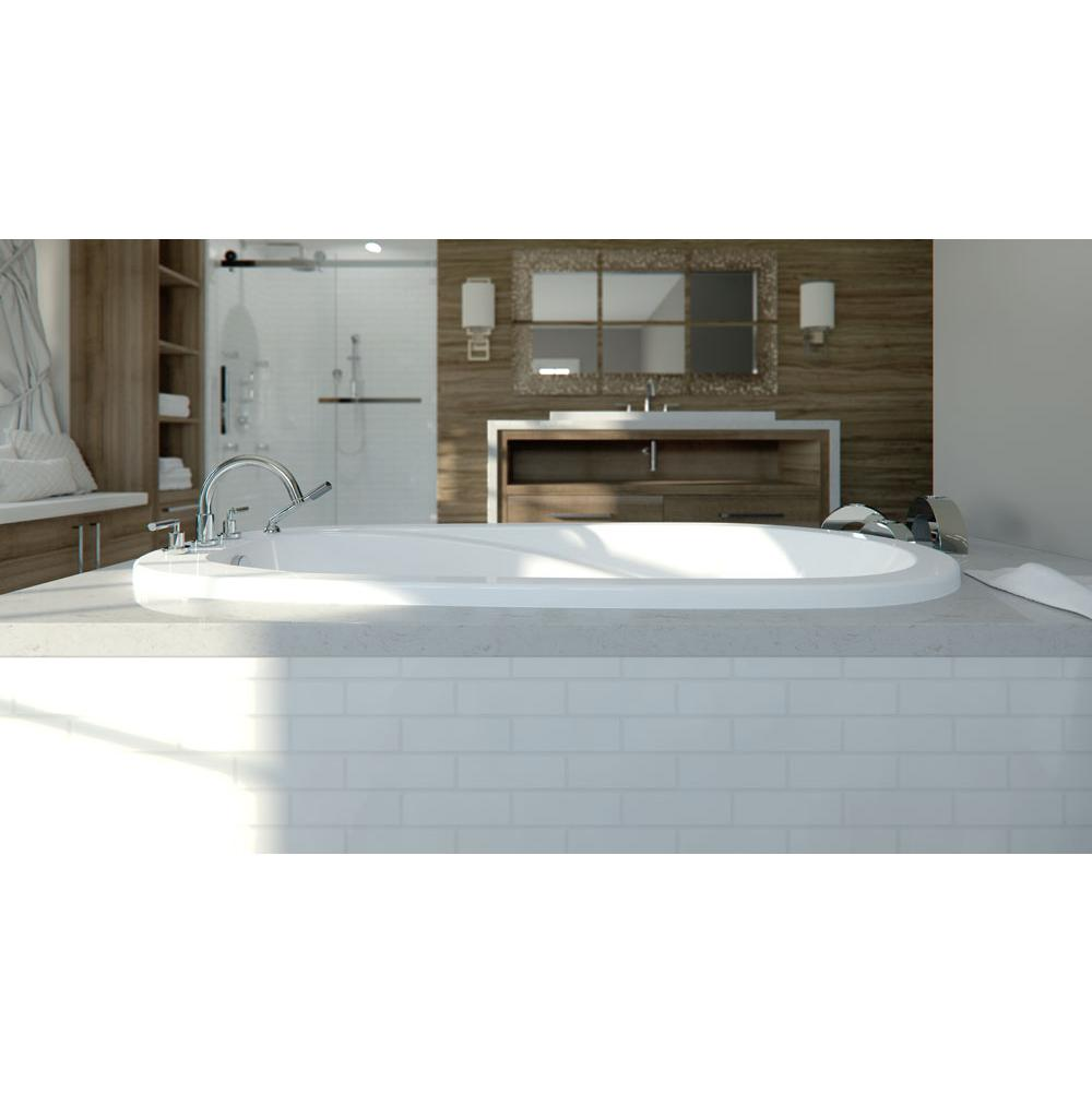 Vapora Podium Bathtub 36X60, Whirlpool, Bone