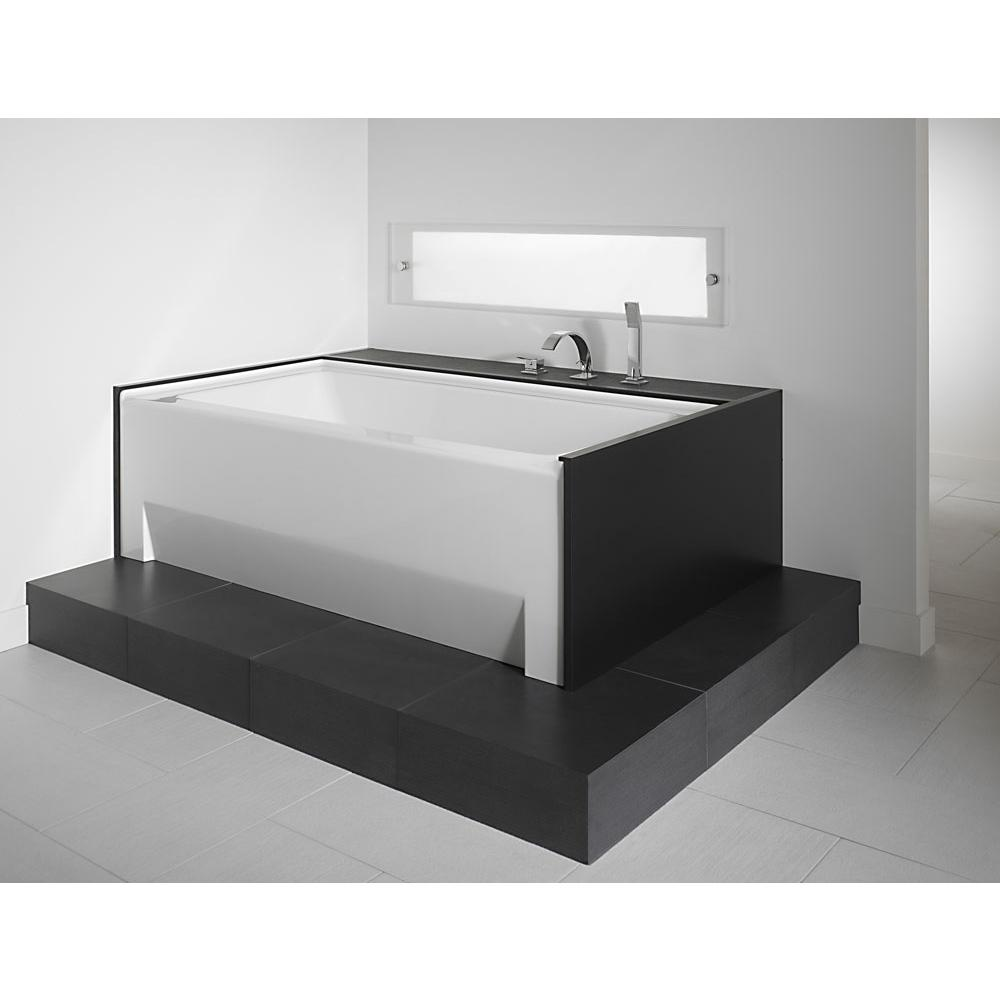ZORA bathtub 32x60 with Tiling Flange and Skirt, Right drain, Mass-Air, Biscuit