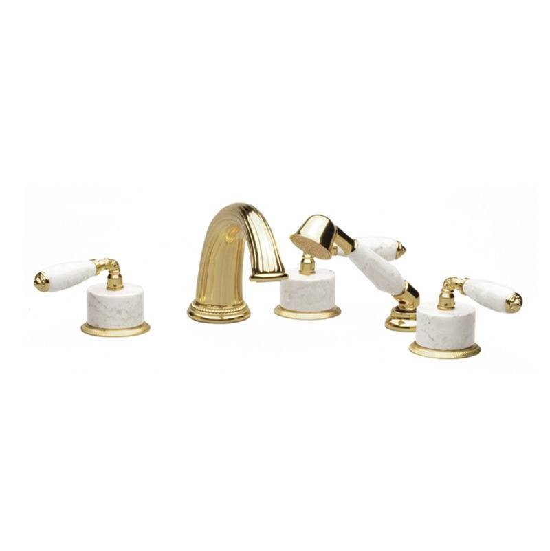 Phylrich Deck Mount Roman Tub Faucets With Hand Showers item K2338BP1-024B