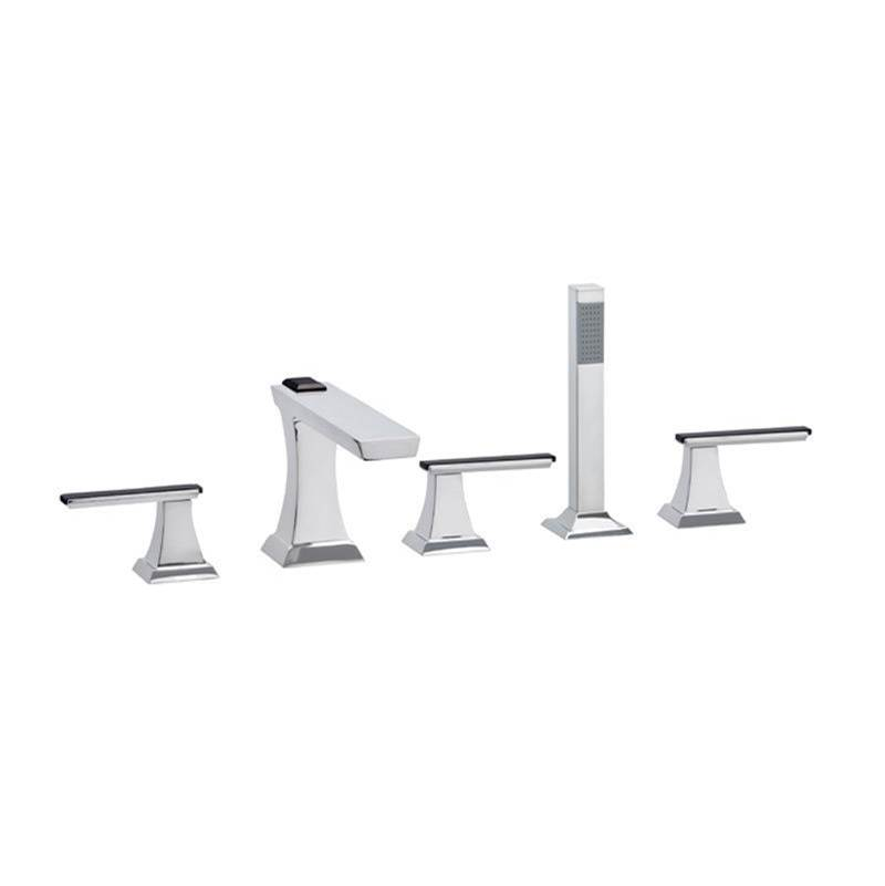 Phylrich Deck Mount Roman Tub Faucets With Hand Showers item K2711L-OEB