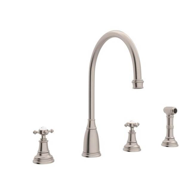 Rohl Deck Mount Kitchen Faucets item U.4735X-STN-2
